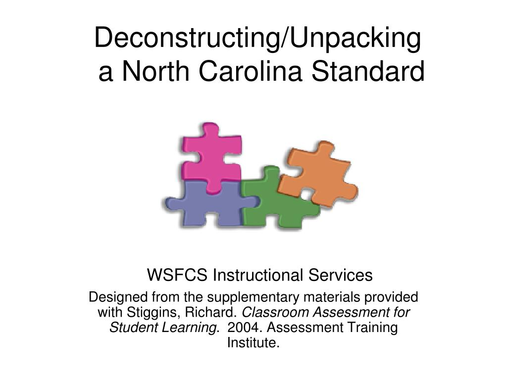 deconstructing unpacking a north carolina standard l.