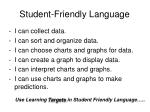 student friendly language31