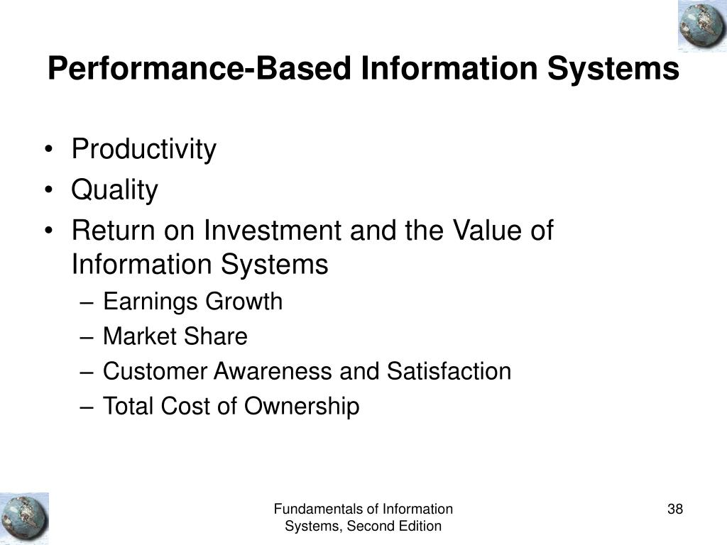 Performance-Based Information Systems
