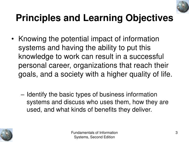 Principles and learning objectives3
