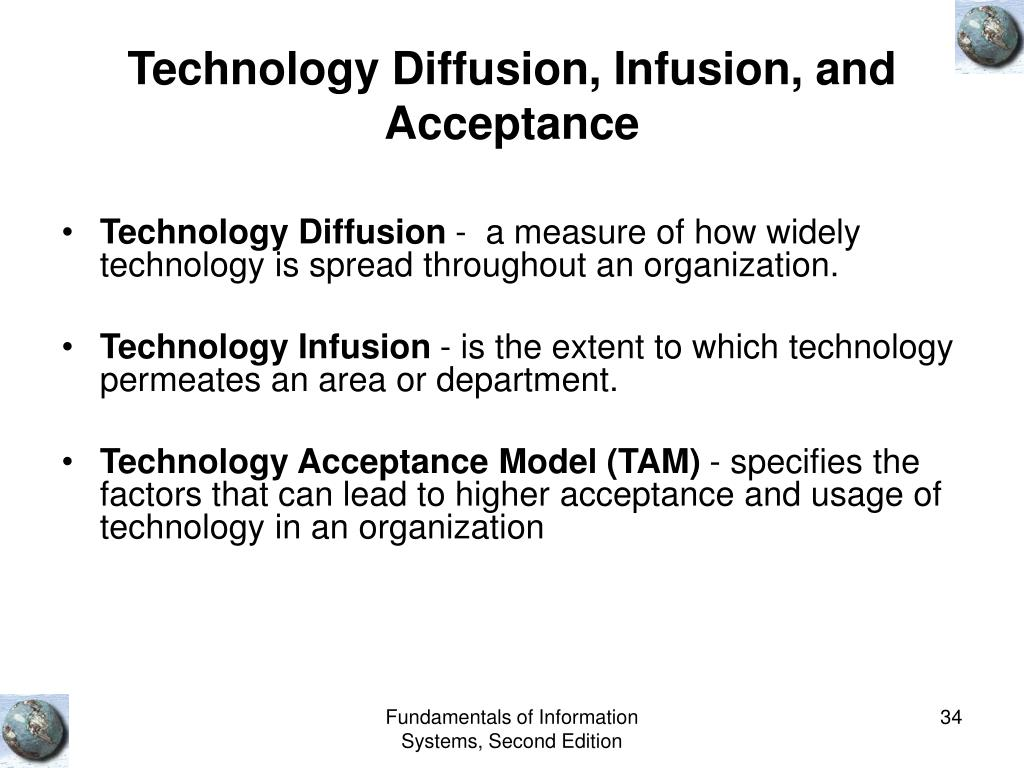 Technology Diffusion, Infusion, and Acceptance