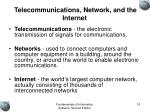 telecommunications network and the internet