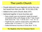 the lord s church