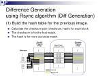 difference generation using rsync algorithm diff generation