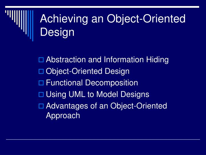 Achieving an object oriented design