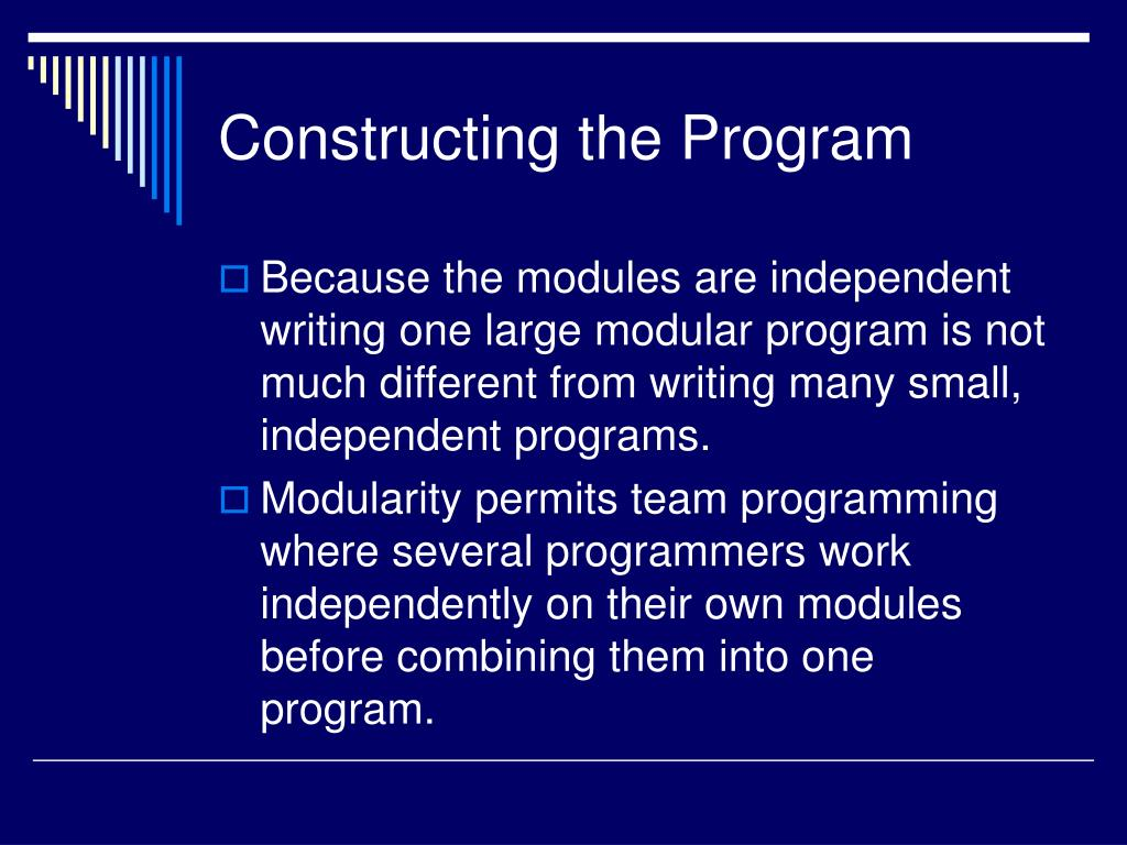Constructing the Program