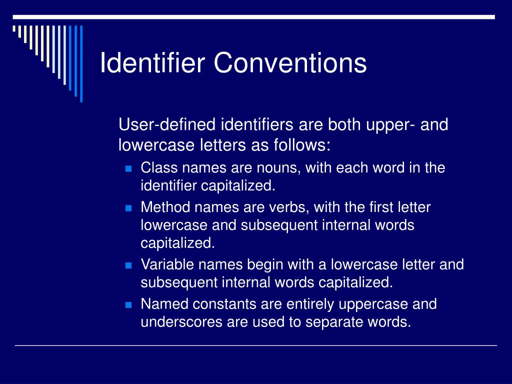 Identifier Conventions