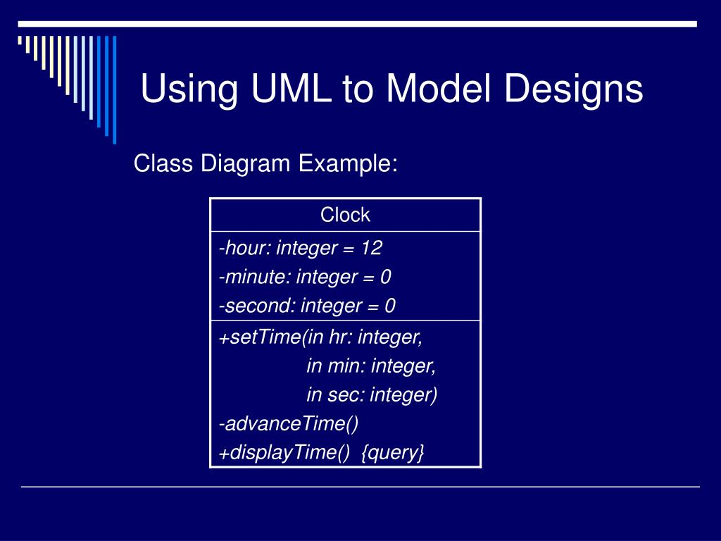 Using UML to Model Designs