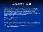 benedict s test