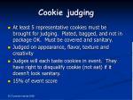 cookie judging