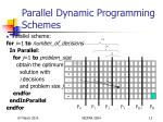 parallel dynamic programming schemes13