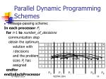 parallel dynamic programming schemes14
