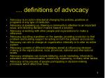 definitions of advocacy
