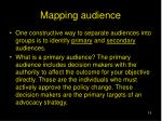 mapping audience