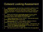 outward looking assessment