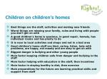children on children s homes