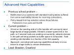 advanced host capabilities
