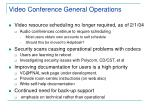 video conference general operations