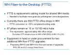 wh fiber to the desktop fttd