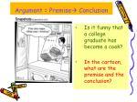argument premise conclusion