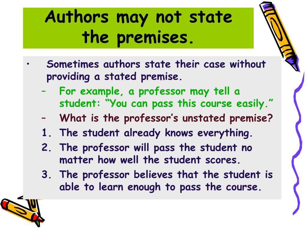 Authors may not state