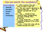 can you match the vocabulary21