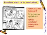 premises must tie to conclusions
