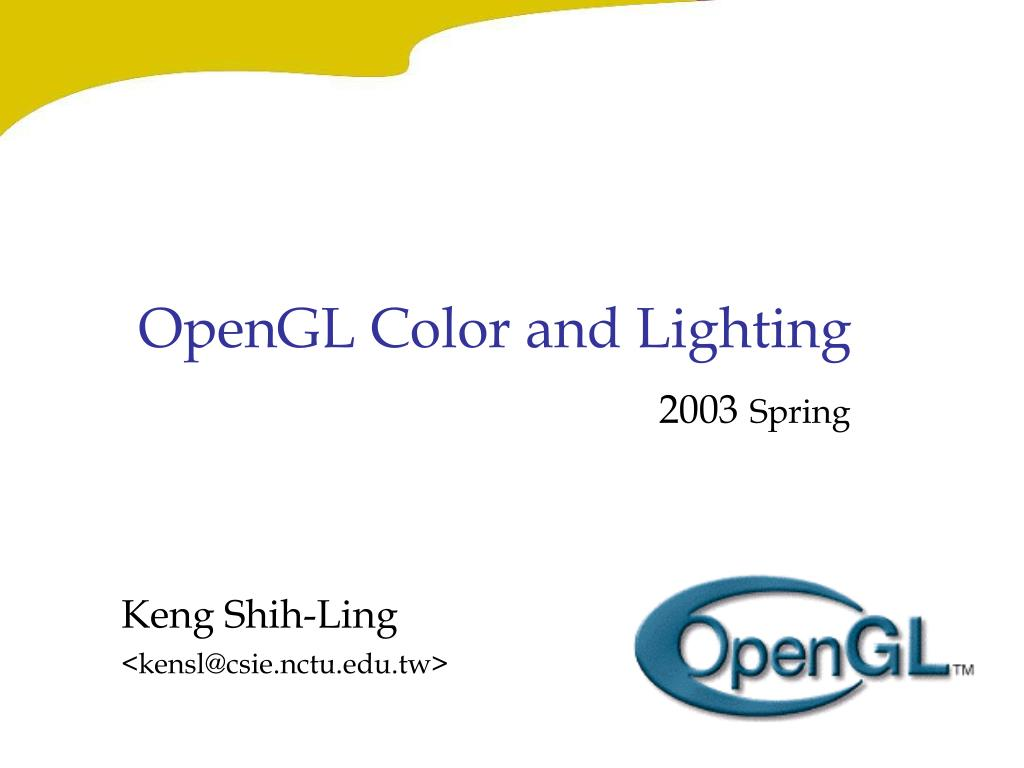 opengl color and lighting l.