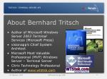 about bernhard tritsch