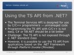 using the ts api from net