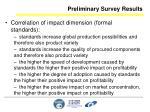 preliminary survey results28