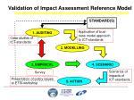 validation of impact assessment reference model