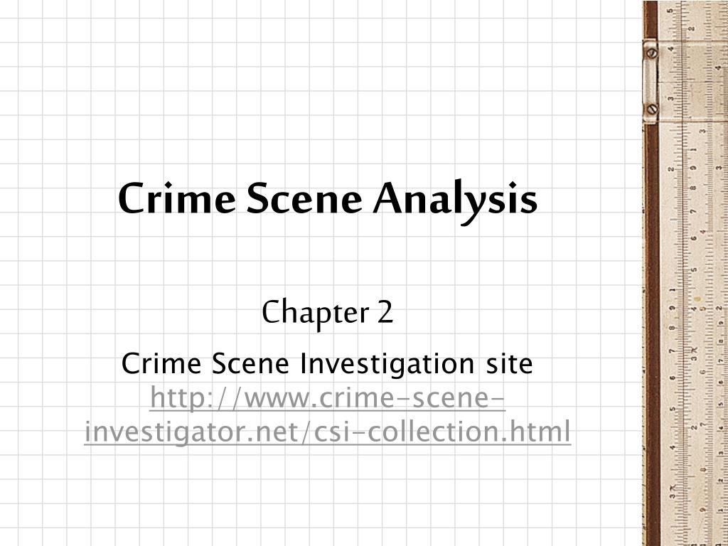 crime scene analysis l.