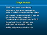 triage actions