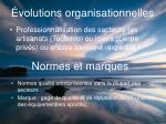 volutions organisationnelles