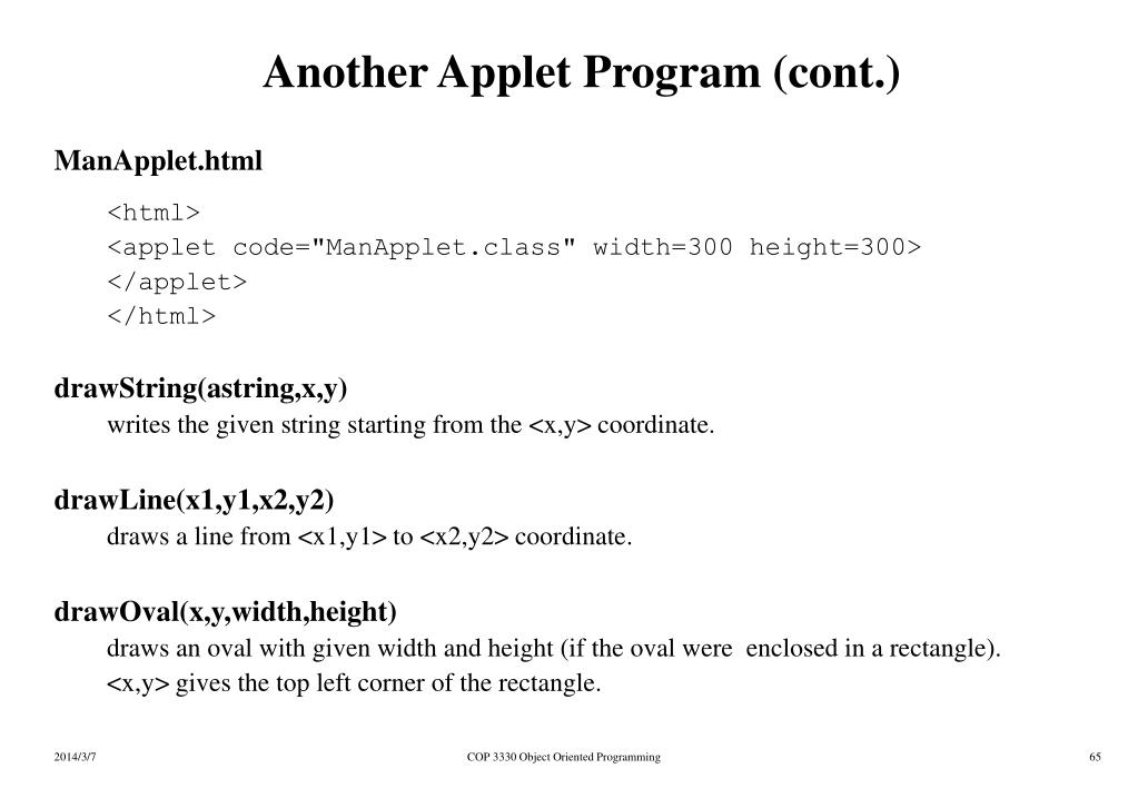 Another Applet Program (cont.)