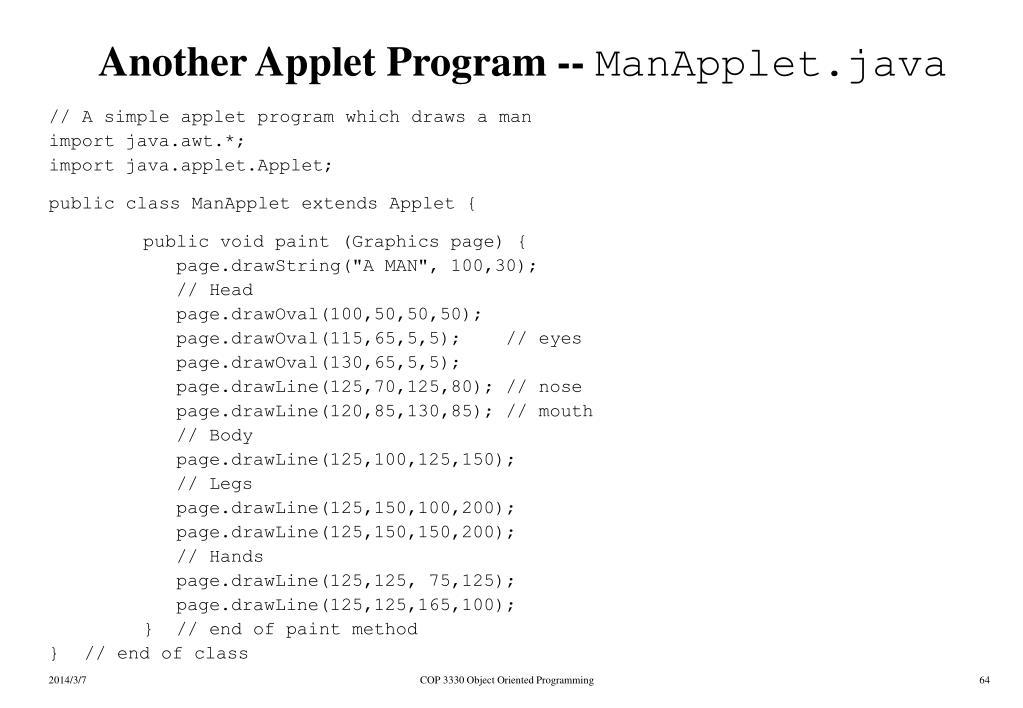 Another Applet Program --
