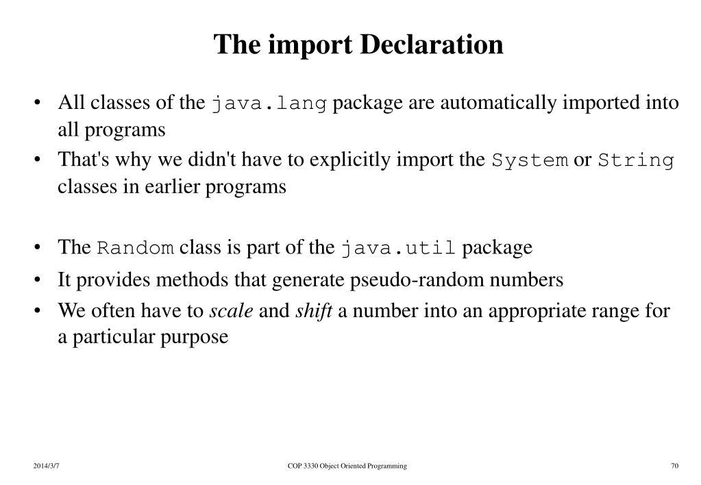 The import Declaration