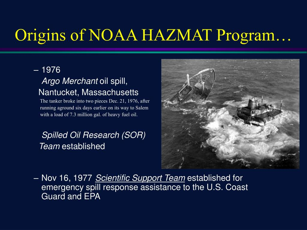 origins of noaa hazmat program l.