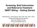 screening brief intervention and referral to treatment sbirt billing getting started