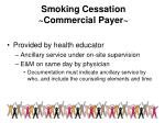 smoking cessation commercial payer