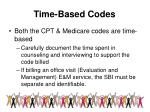 time based codes
