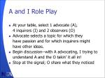 a and i role play