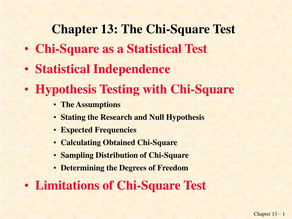chapter 13 the chi square test l.