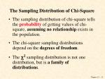 the sampling distribution of chi square
