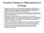 curative factors or mechanisms of change
