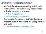 community associated mrsa