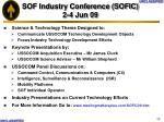sof industry conference sofic 2 4 jun 09