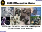 ussocom acquisition mission