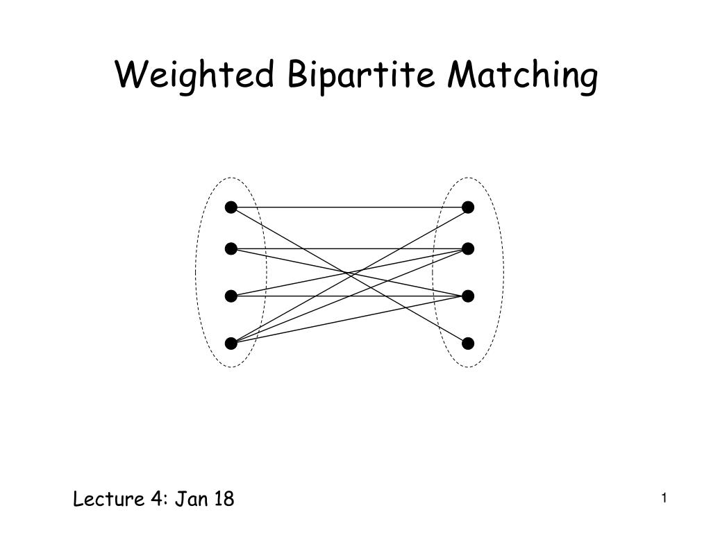 weighted bipartite matching l.